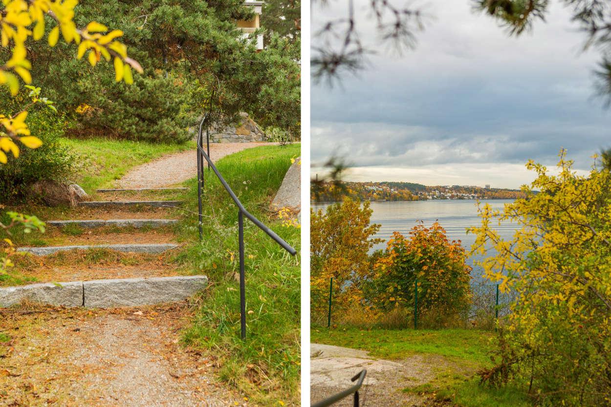 Promenadstigar och utsiktsplatser