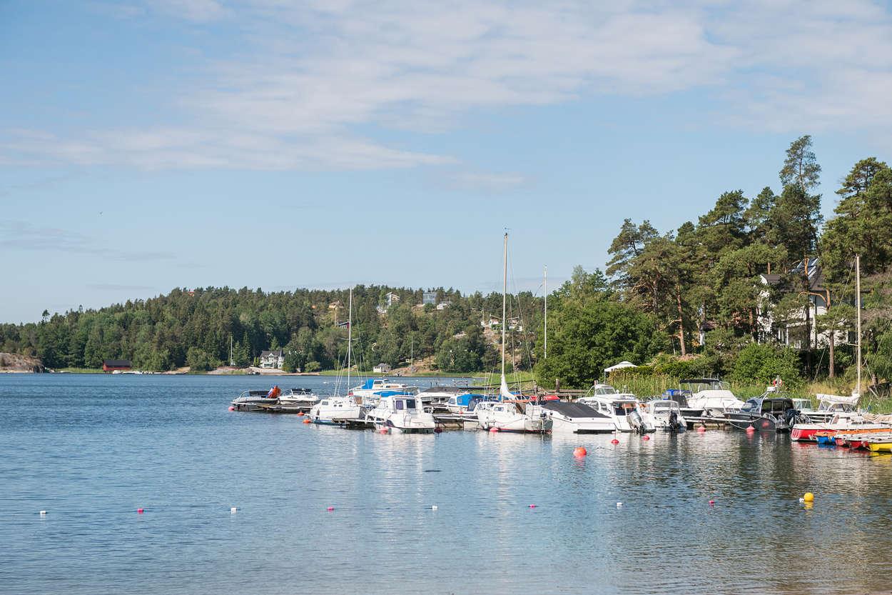 Grills udde med småbåtsbrygga
