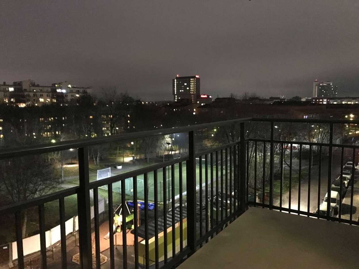 Kvällsvy balkong