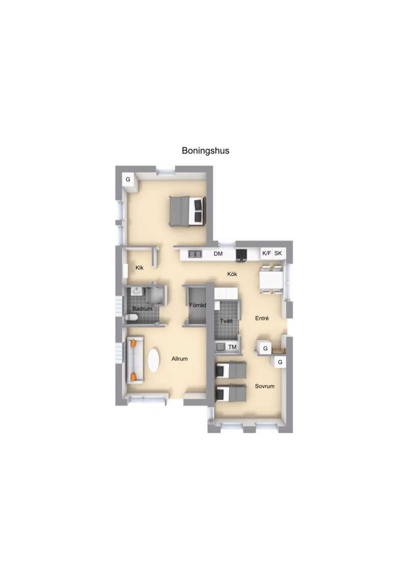 Blå huset - planritning