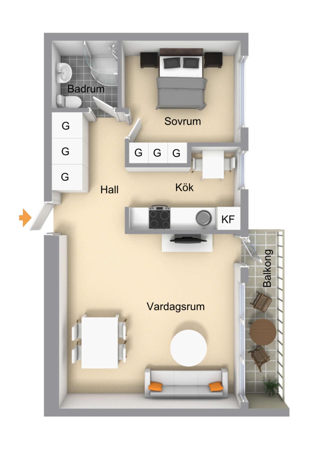 Planritning Lorensborgsgatan 5D