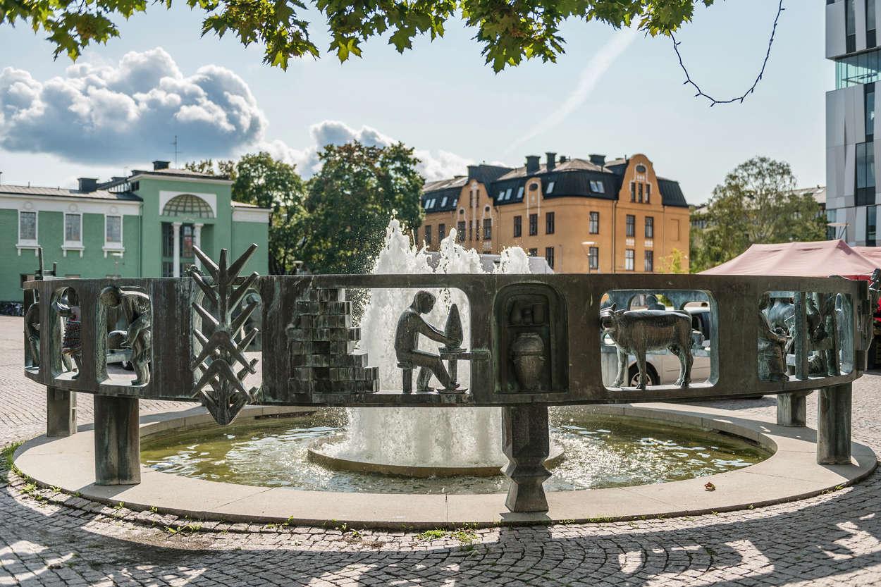 Fontan Vaksalatorg_Uppsala