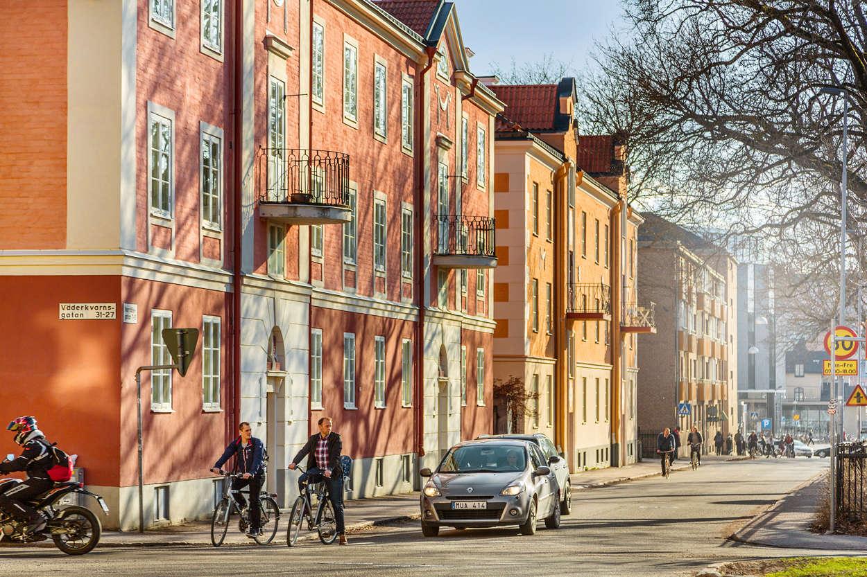 Falhagen Norrtaljegatan mot stationen