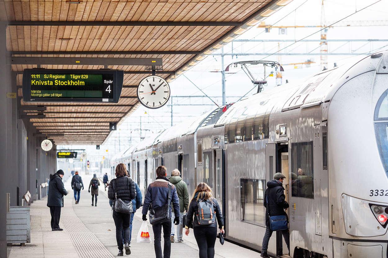 Uppsala C Pendeltåg