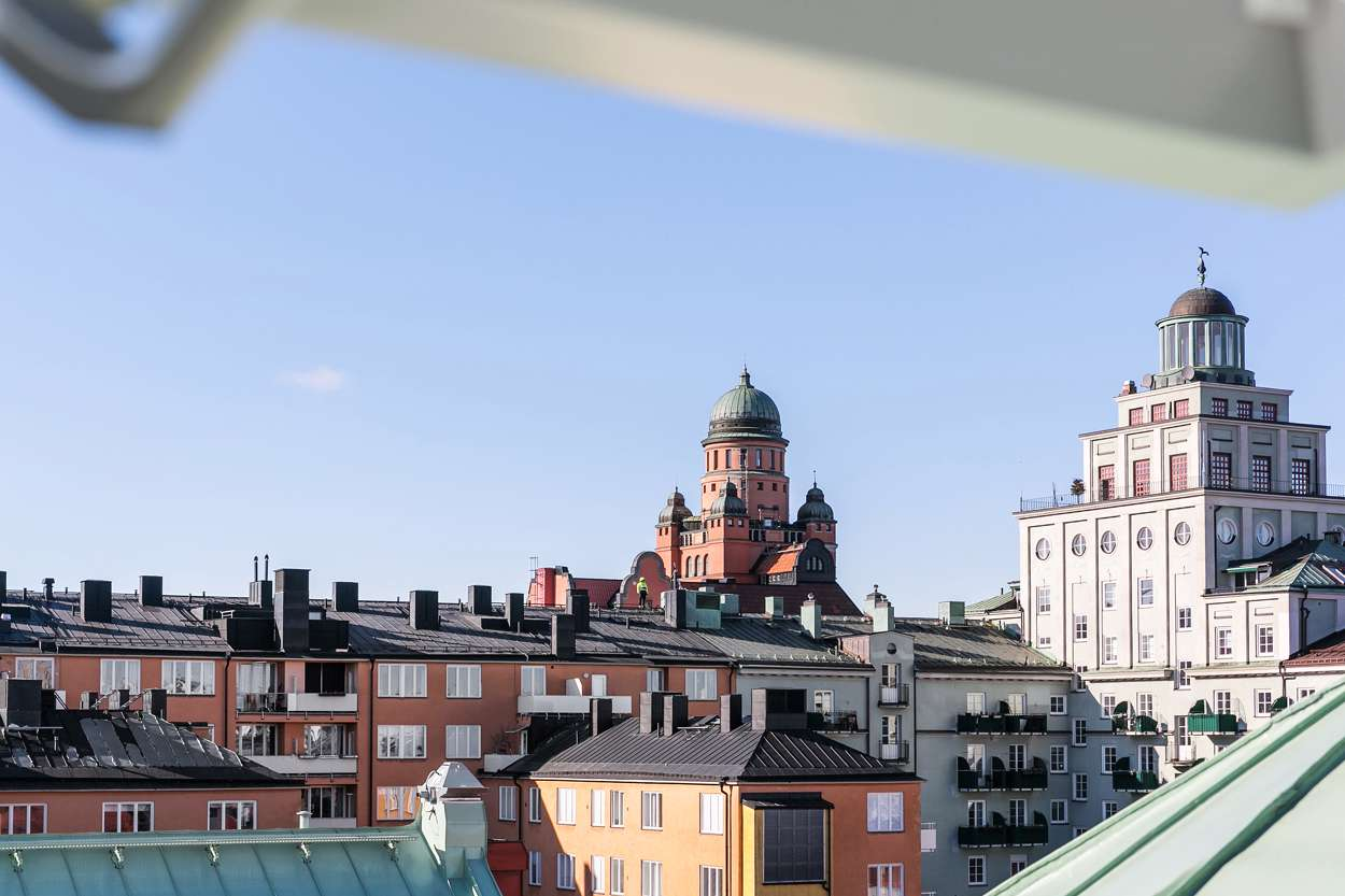 Bild från fönsteraltan - lägenhet 1605