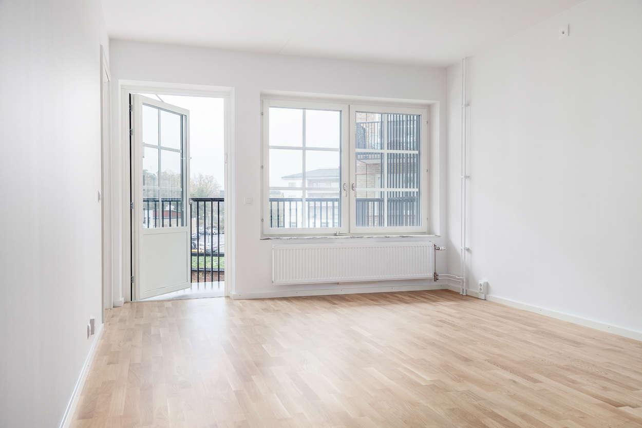 Vardagsrum med balkong