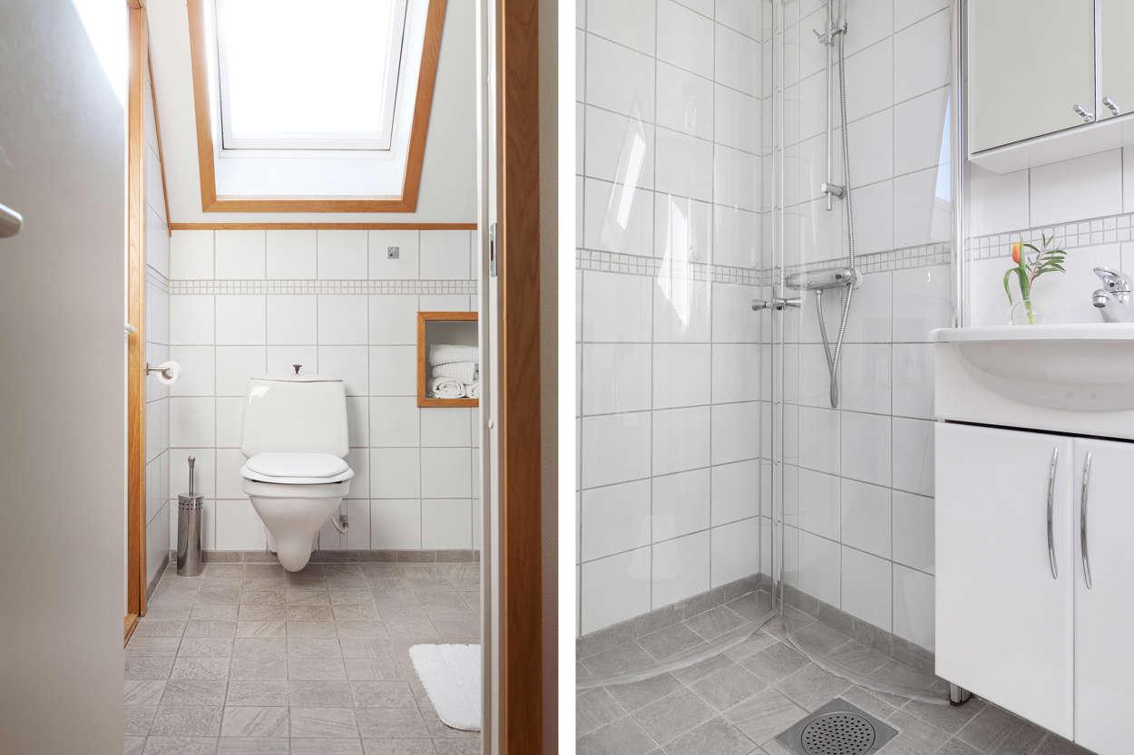 Badrum på ovanvåningen