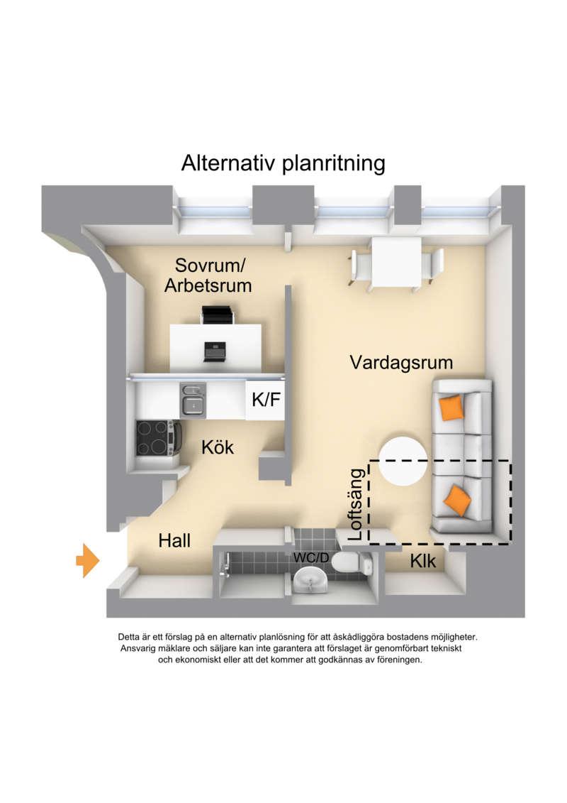 Alternativ planritning