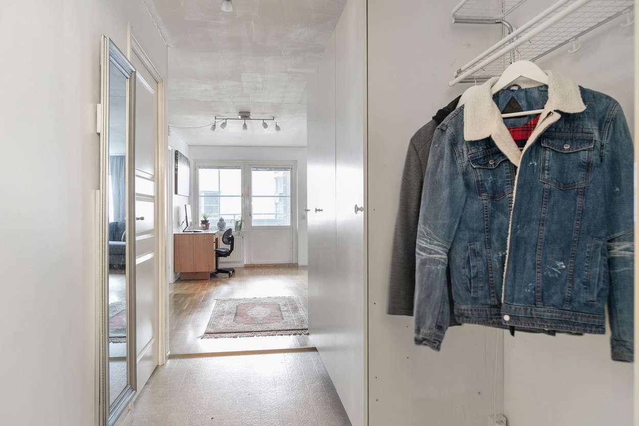 Hallen med garderober