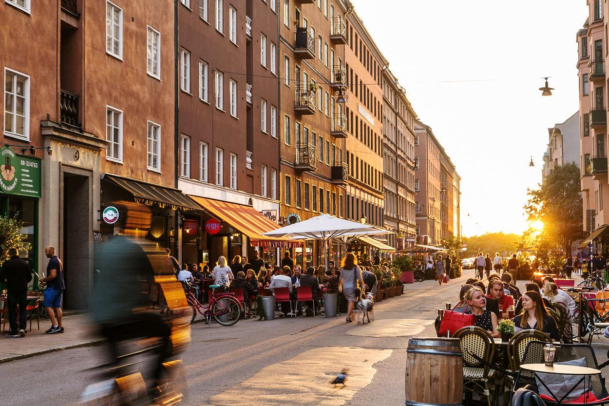 Rörstrandsgatan med trevliga restauranger