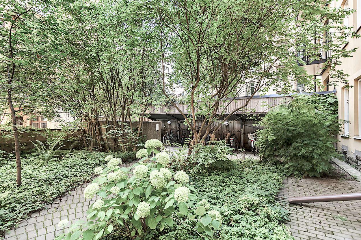 Föreningens gröna innergård