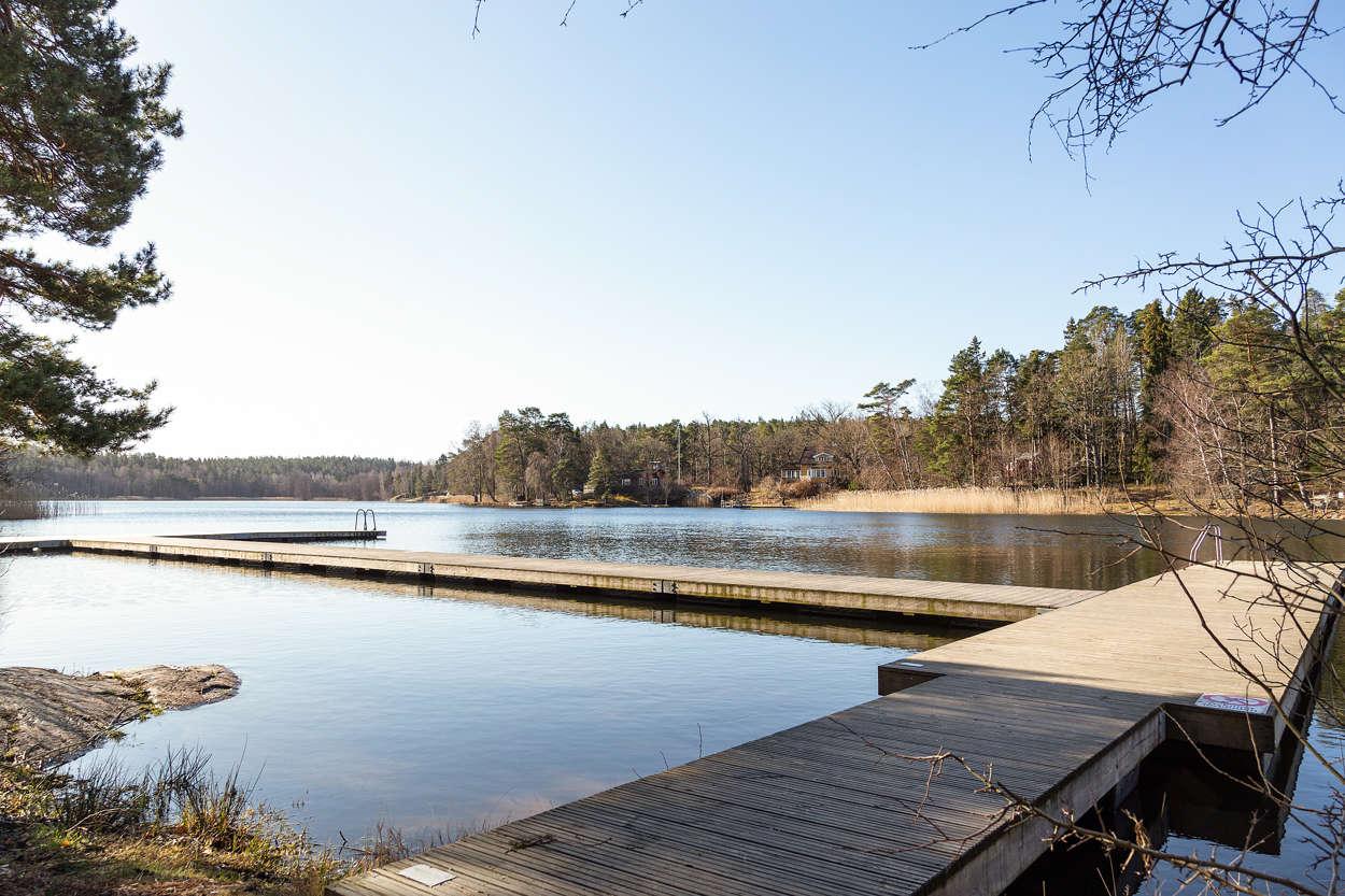 Badplats vid Sågsjön
