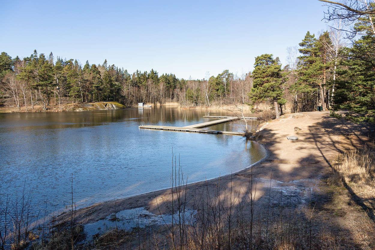 Sågsjön med badplats