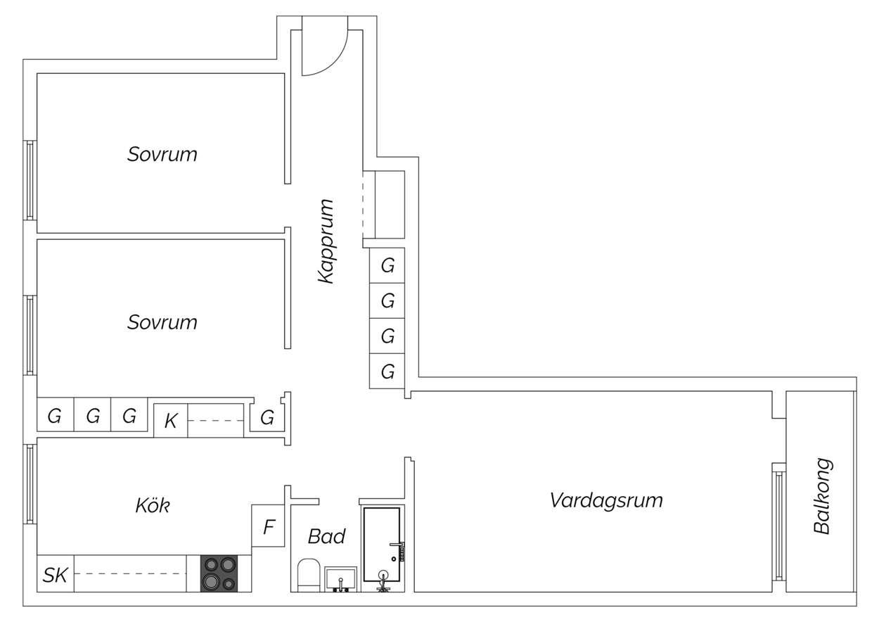 planritning Duvhöksgatan 4B