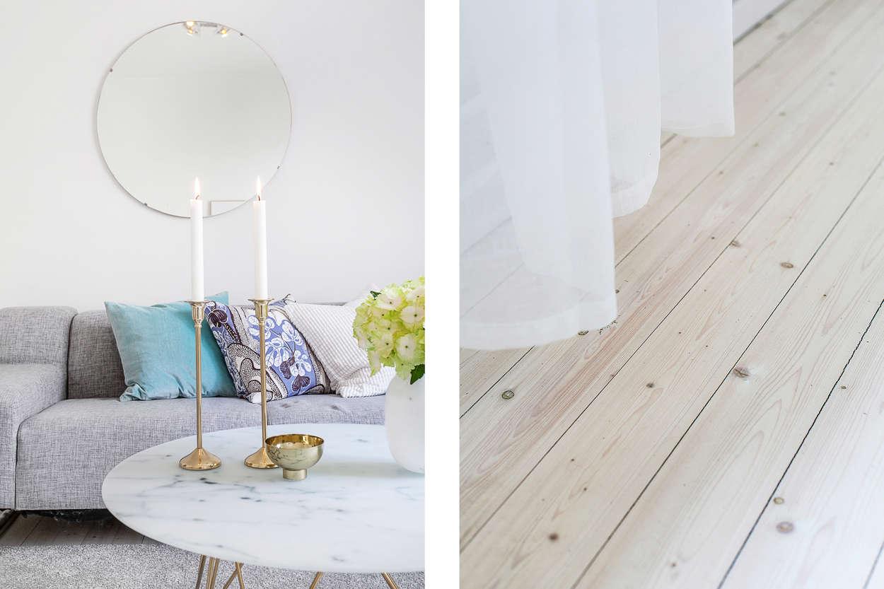 Fantastiskt vackra originalbrädor på golv