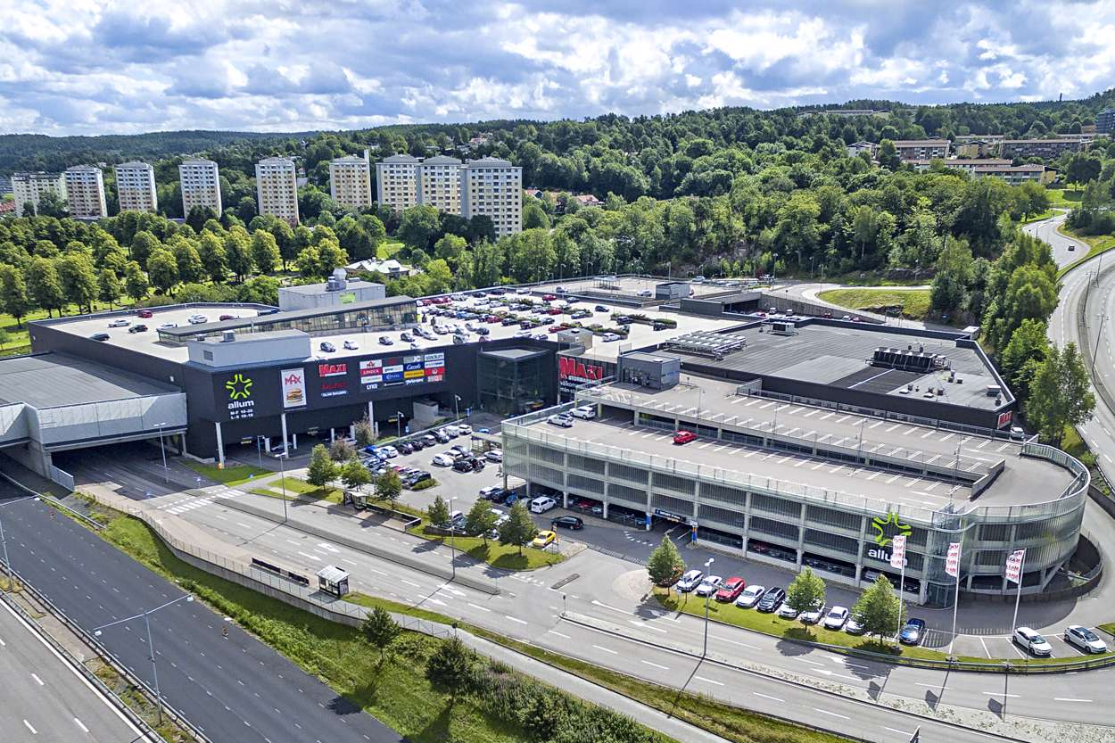 Allum shoppingcenter i Partille