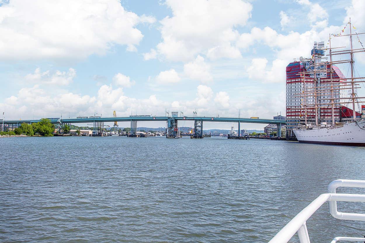 City nås snabbt över Götaälvbron