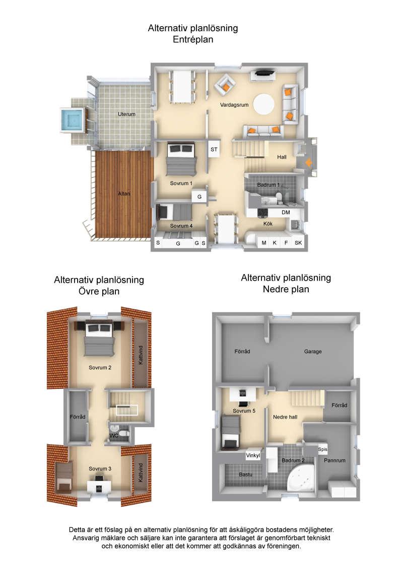 Ett alternativ med fler sovrum för den stora familjen