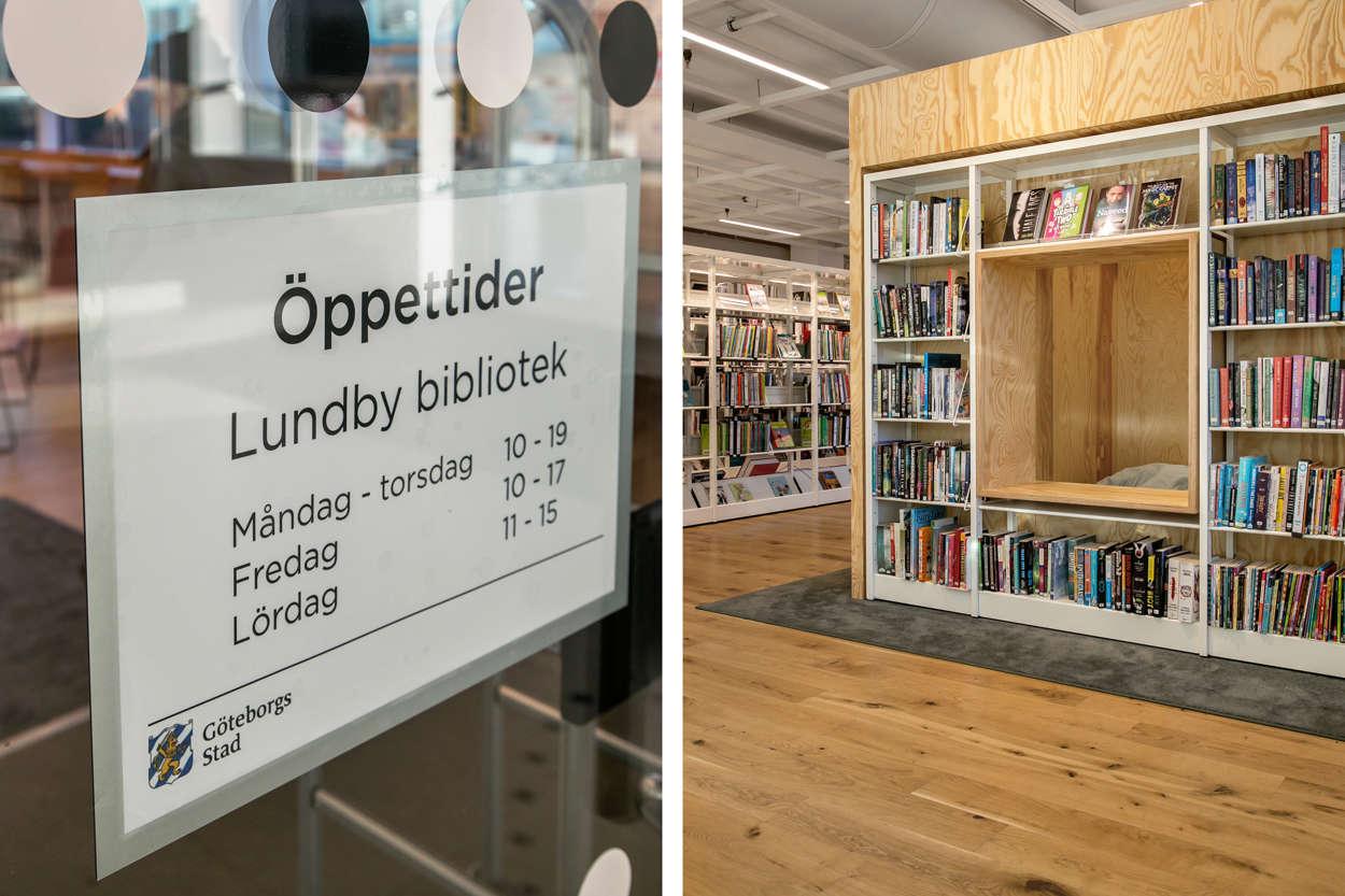 Lundby bibliotek i Glasiären