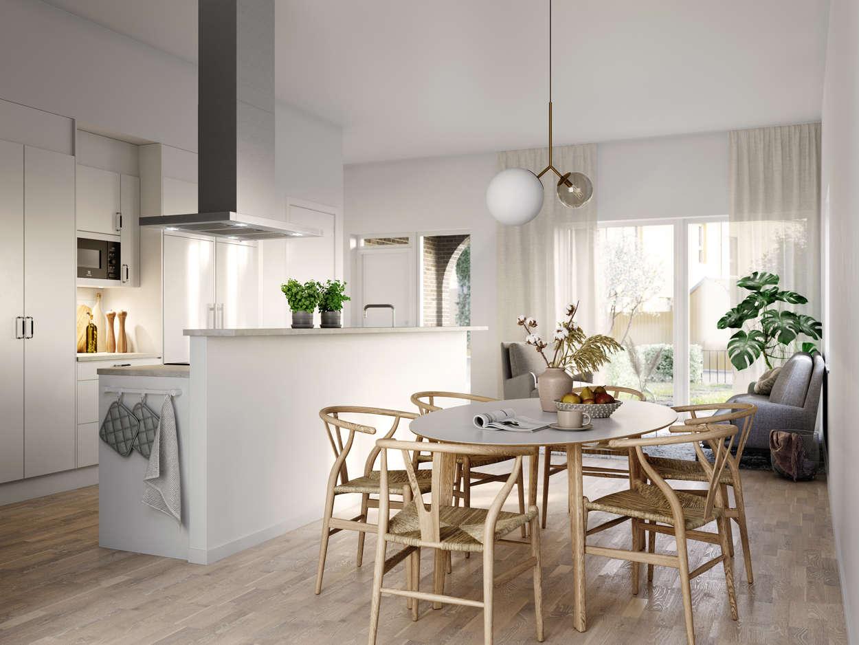 Kök och sällskapsrum Hustyp B