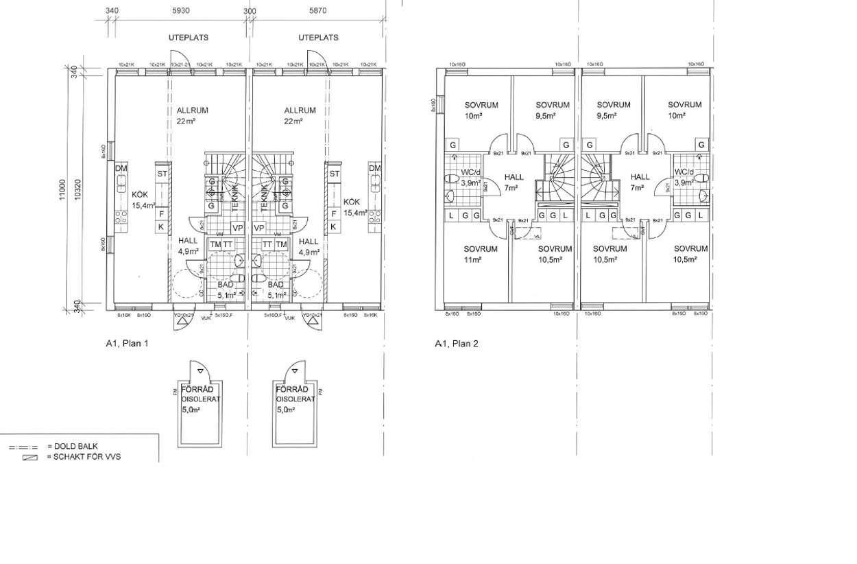 Planlösning A-hus