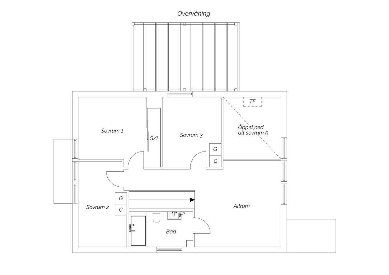 Övre plan villa