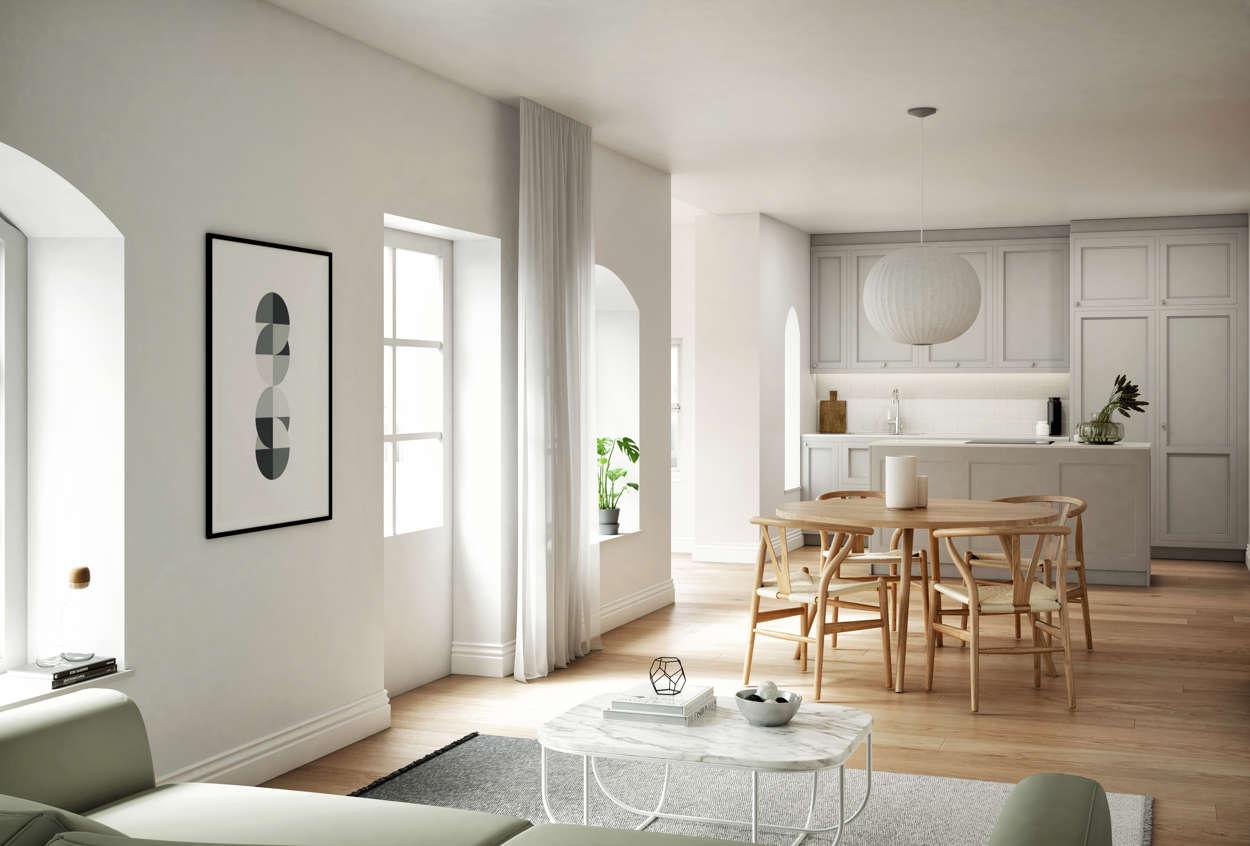Final render kitchen