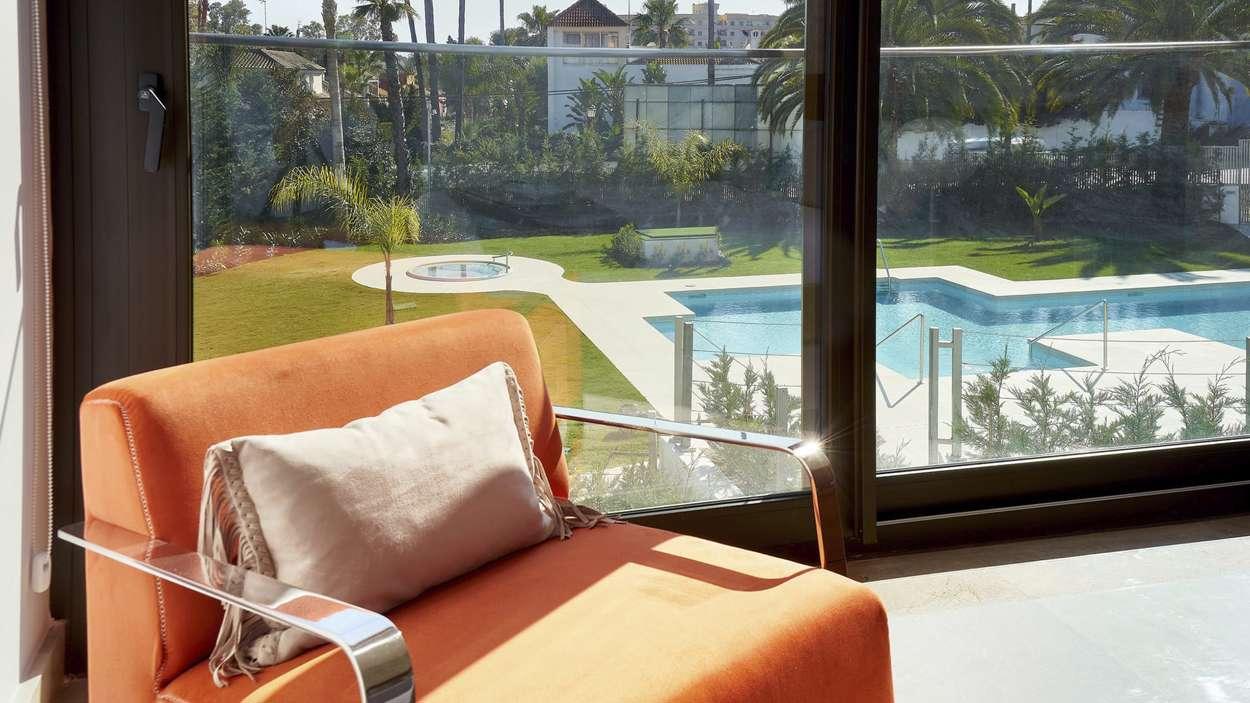 Utsikt över gemensam pool