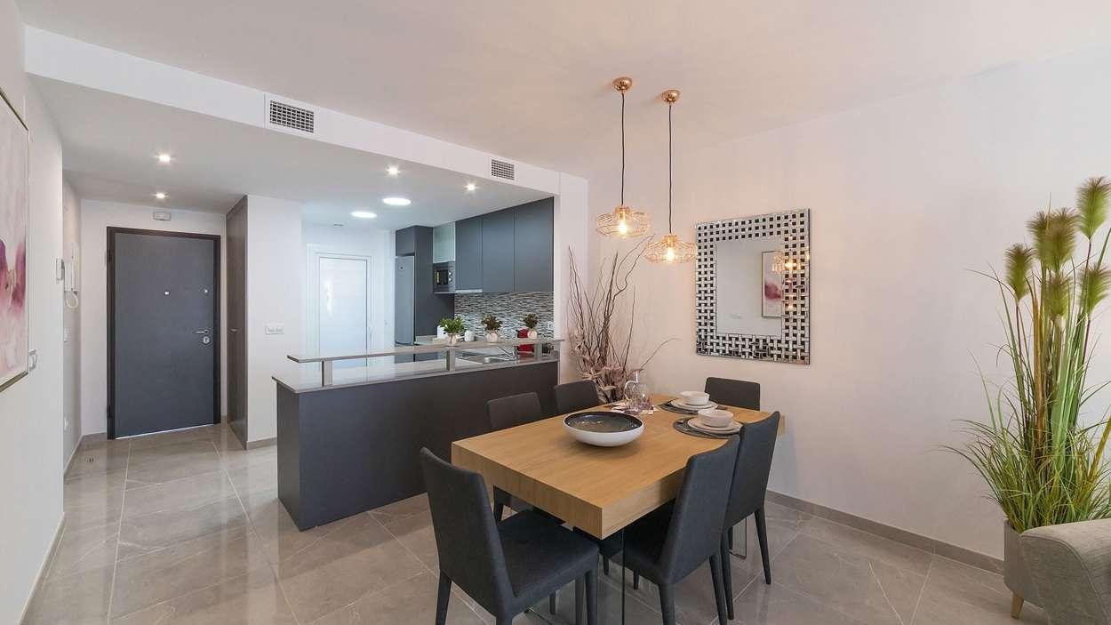Barkök och vardagsrum