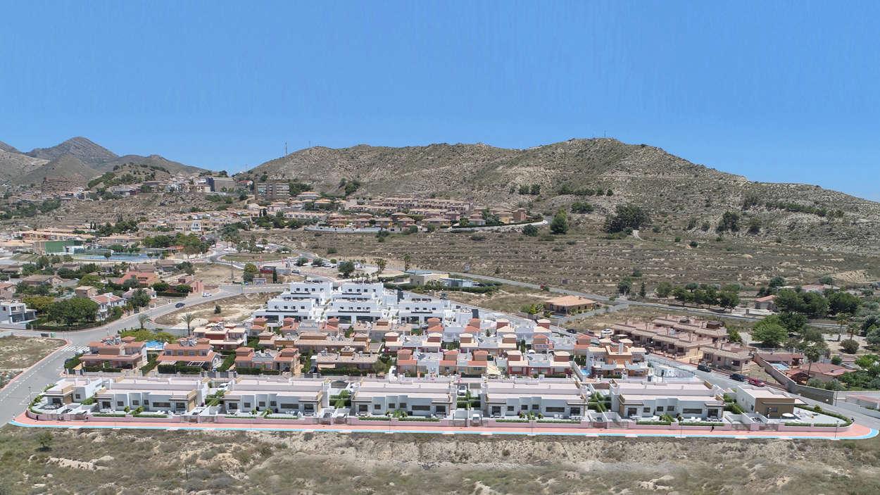 Projekt överikt vid den pitoreska byn