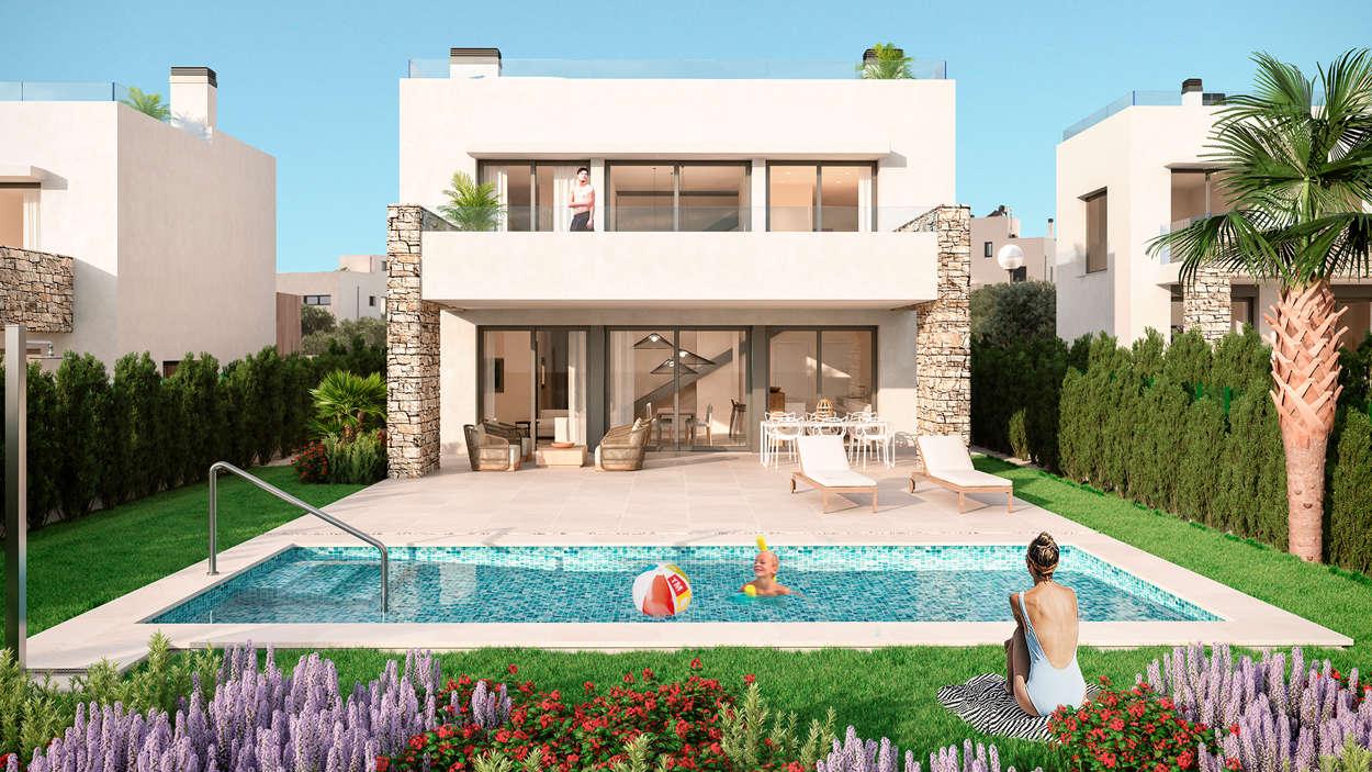 Villa med egen pool