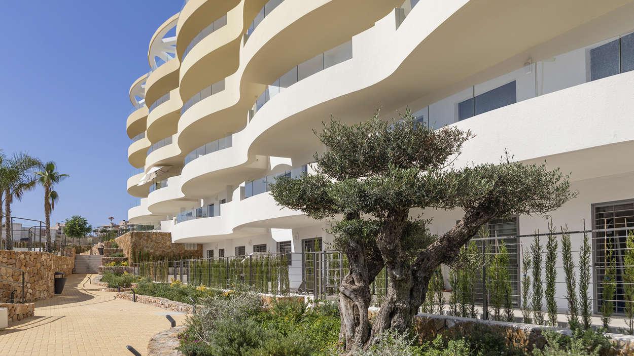 Rymmliga balkonger, speciell utformning
