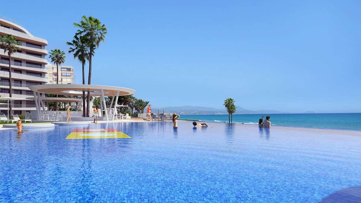 Infinity pool mot Medelhavet
