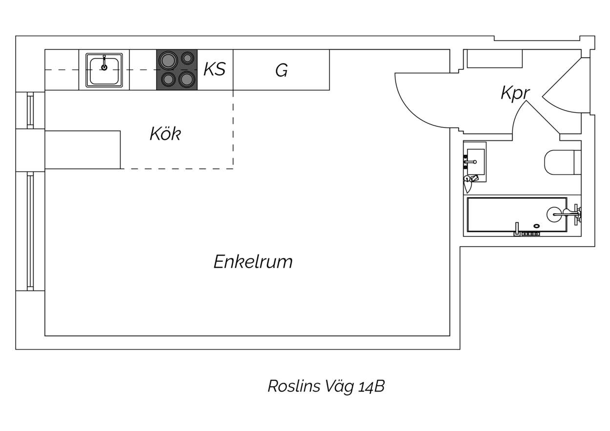 Planritning Roslins väg 14B klar
