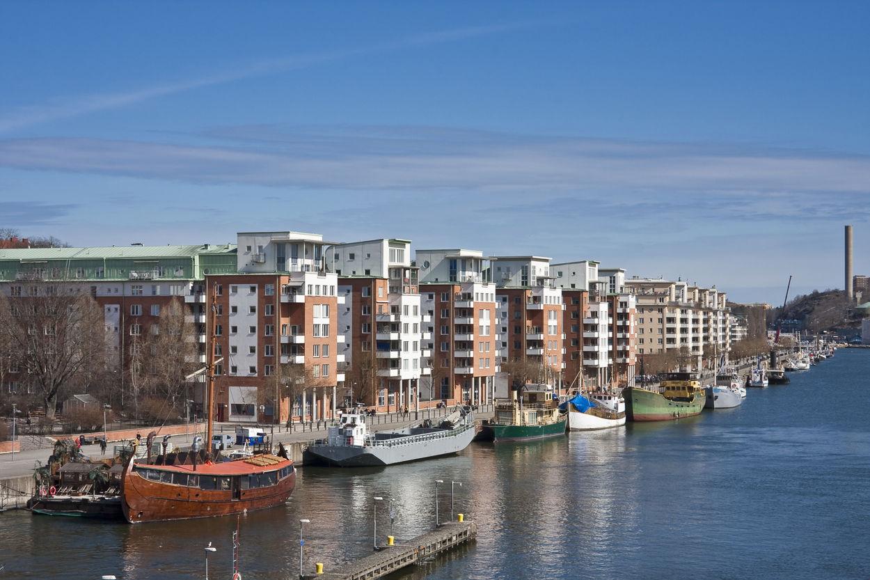 Närområdet - Strandpromenaden längs Hammarby Sjö