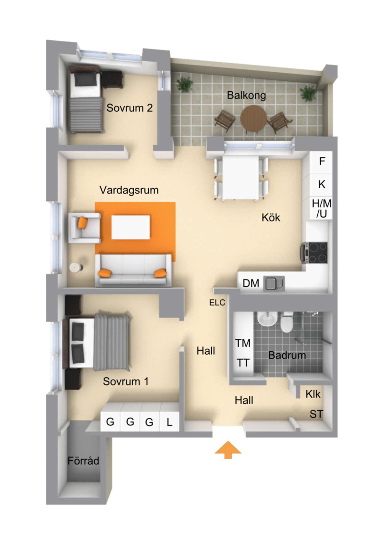 Planritning Fyrislundsgatan 37C