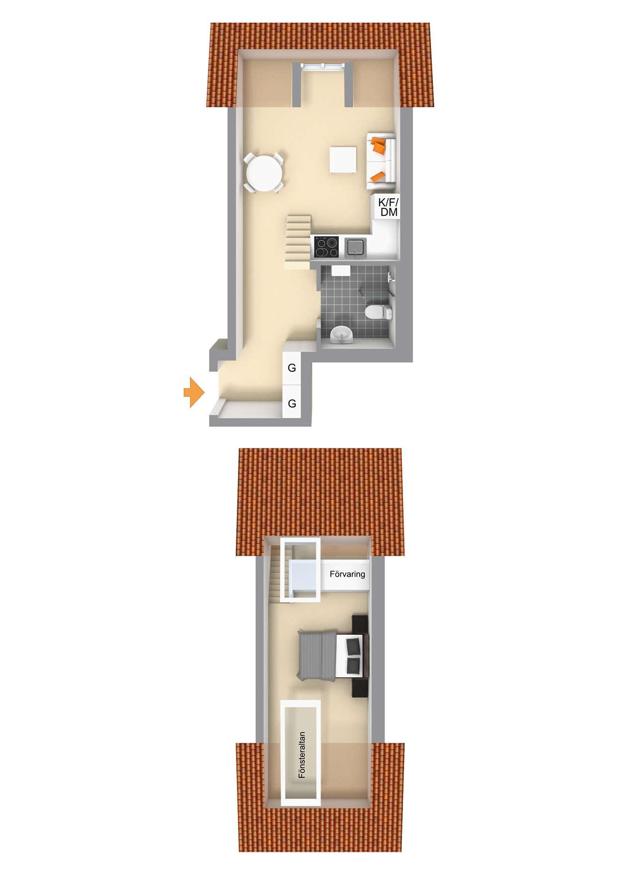 Ritning lägenhet 1607 - för övriga ritningar se bifogade Bofaktablad