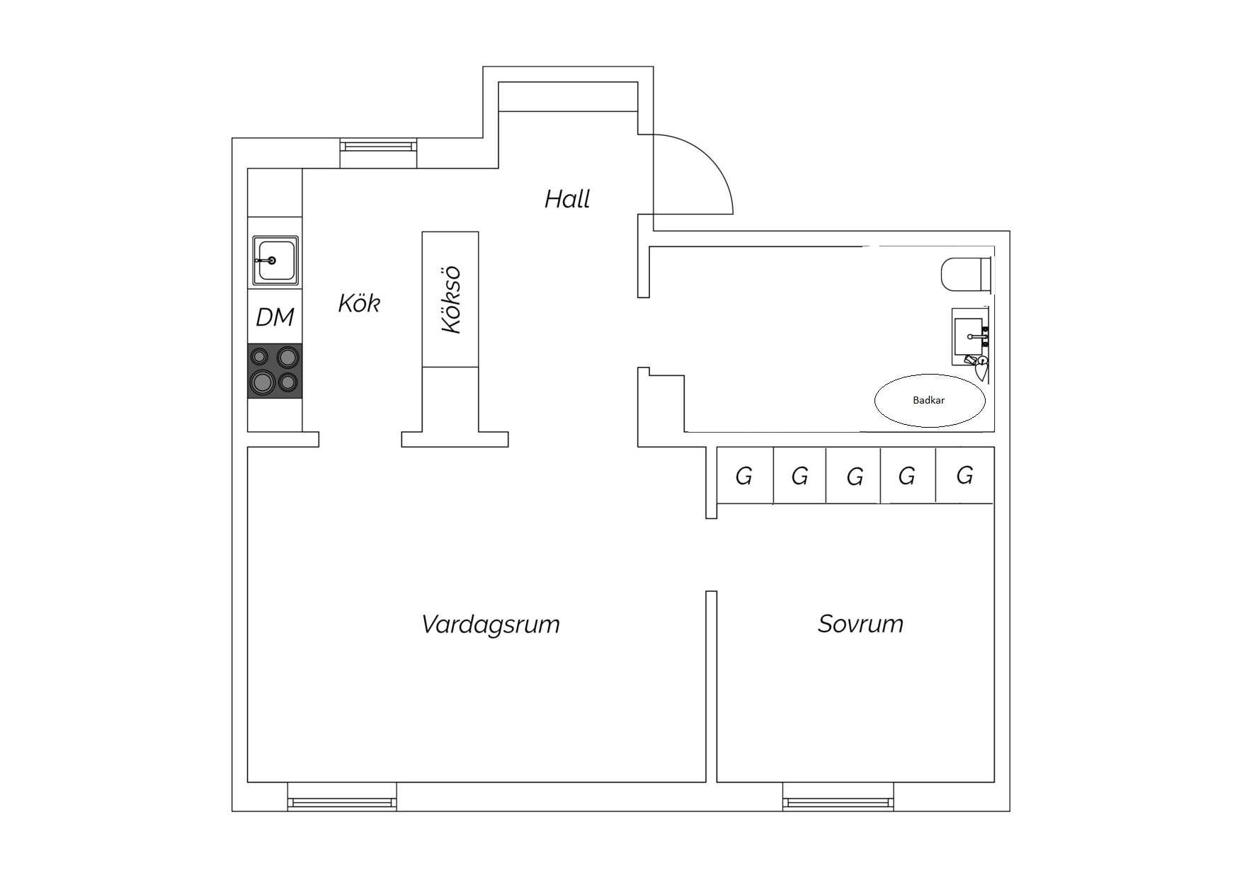 Planritning Skaraborgsgatan 9