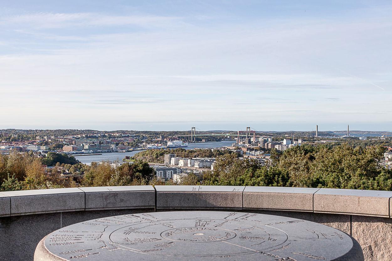 Blicka ut över hela Göteborg från Rambergets topp